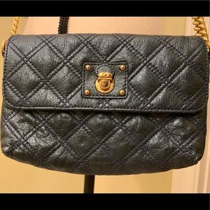 Marc Jacobs Quilted Blue Metallic Bag Crossbody